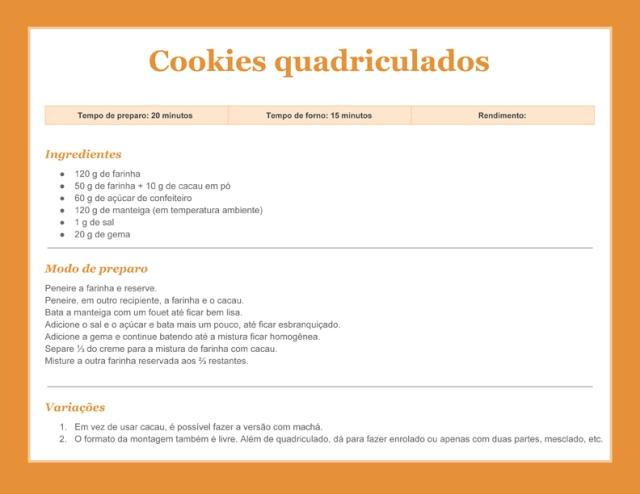 Receitacookies