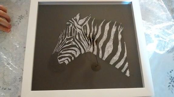 Zebra em quilling
