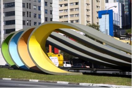 Monumento a Imigração Japonesa. Localizado na Av. 23 de Maio na altura do Centro Cultural São Paulo
